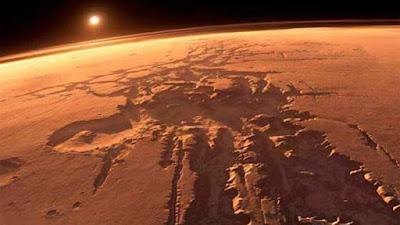 Marte, el cuarto planeta en orden de distancia al Sol.