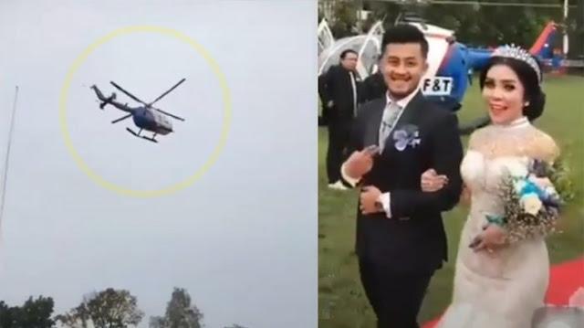 AKHIRNYA TERUNGKAP! Kapolda Akui Helikopternya Dipakai Warga untuk Nikahan, Kasusnya Ditangani Mabes