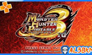 تحميل لعبة Monster Hunter Portable 3rd psp iso مضغوطة لمحاكي ppsspp