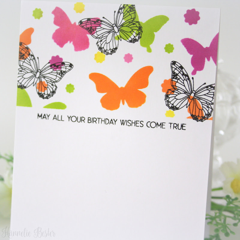 one layer butterfly birthday card - Uniko stamps