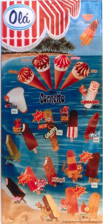 ... deste cartaz de Gelados da Olá de 1985