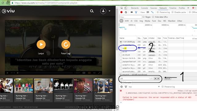Cara download subtitle di VIU lewat laptop/komputer (PC)