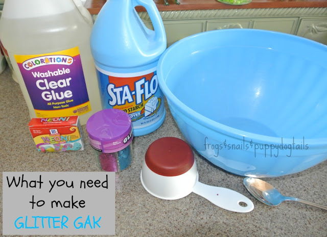 how to make gak with liquid starch