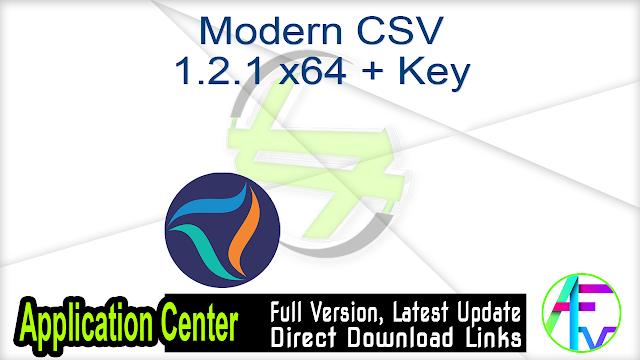 Modern CSV 1.2.1 x64 + Key