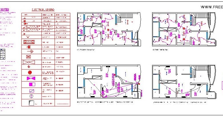 Lighting Layout Plan Detail And Electrical Legend General Note