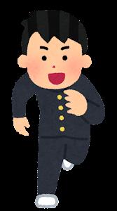 走る人たちのイラスト(男子学生2)