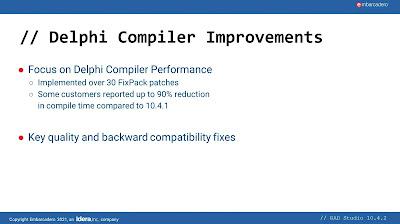 Delphi 10.4.2 compiler improvements