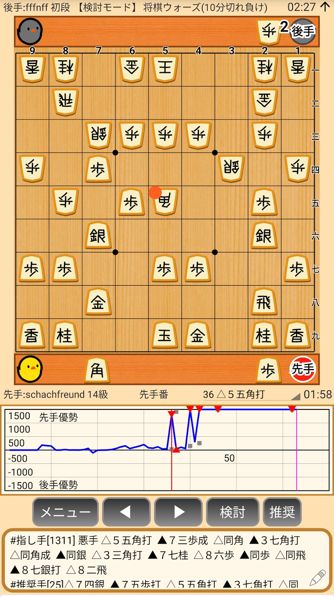 ウォーズ 棋譜 将棋
