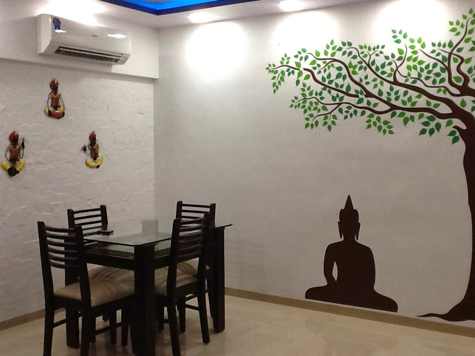Ethnic Indian wall decal design for living room
