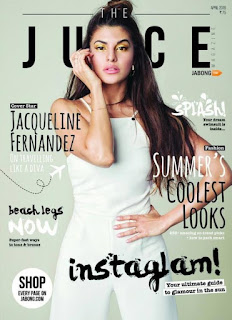 Jacqueline Fernandez Cover Page of The Juice magazine April 2016
