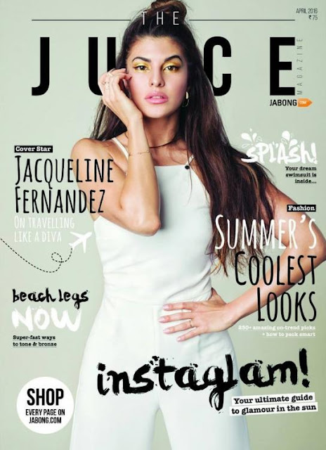 Jacqueline Fernandez On The Cover Of The Juice Magazine April 2016 Issue