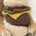http://www.lionbrand.com/patterns/crochet-pattern-red-hook-cheeseburger-dog-toy.html