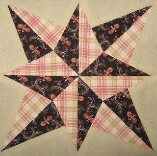 "Cheddarback Block 31, 5"" pieced star"