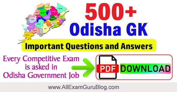 Odisha GK
