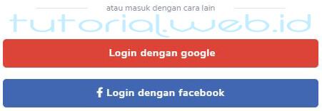 Cara beli domain Niagahoster 1 Login dengan Google
