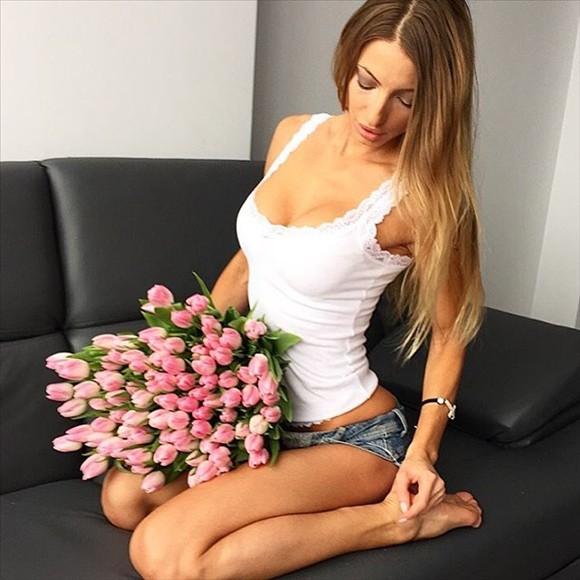 Beautiful russian fitness model