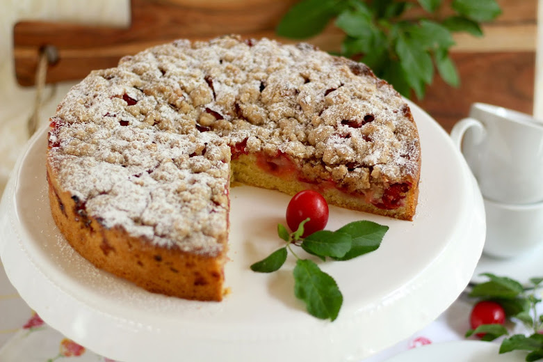 Zimtstreuselkuchen mit Reineclauden Rezept und Video von Sugarprincess