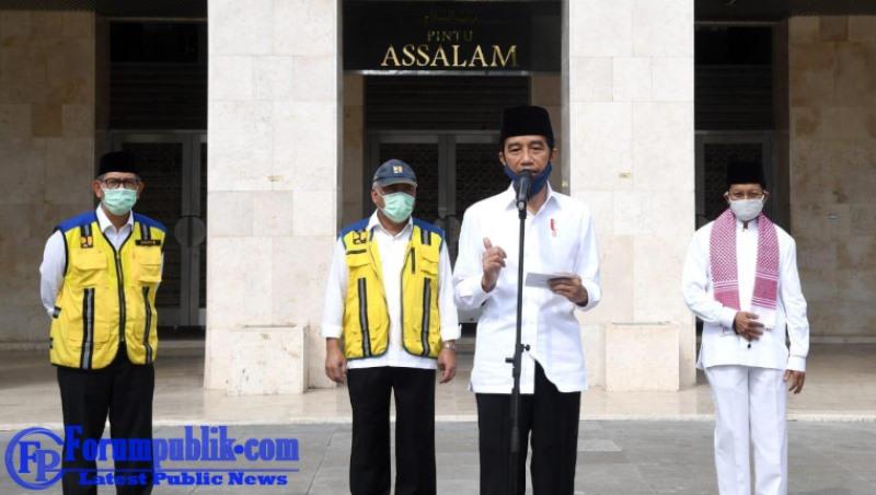 Presiden Jokowi Tinjau Kesiapan Kenormalan Baru di Masjid Istiqlal