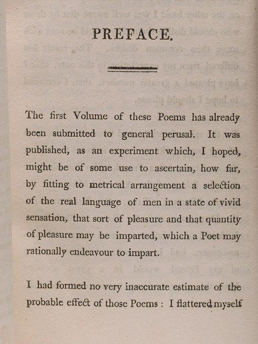 wordsworths preface to the lyrical ballads essay