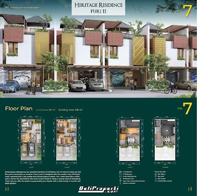 tipe unit heritage residence