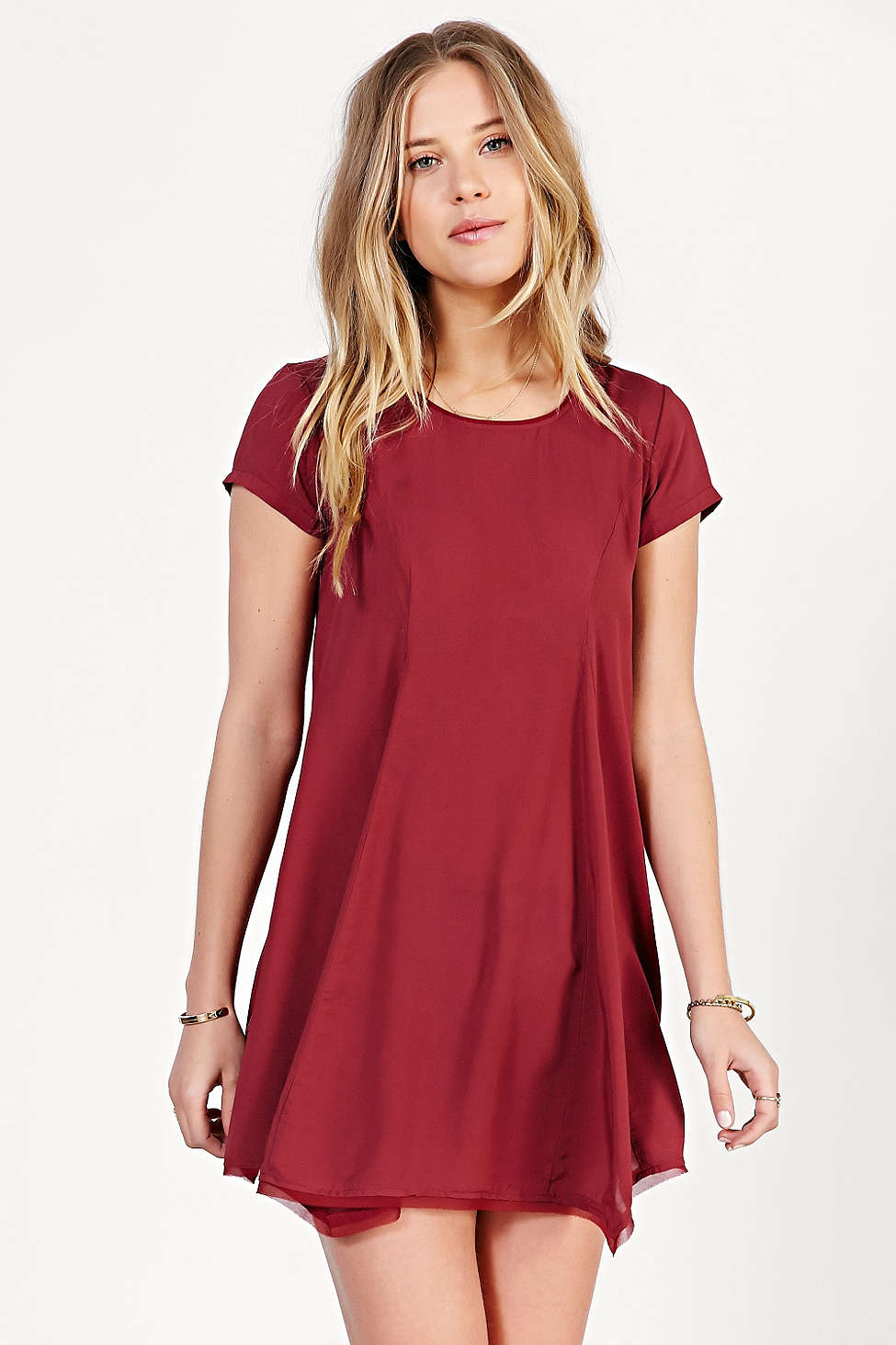 Urban Outfitters, Silence + Noise Witchy T-Shirt Dress, Rust