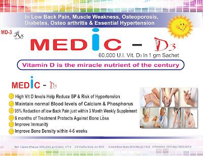 Medic D3, Cholecalciferol (vitamin D3) Sachet