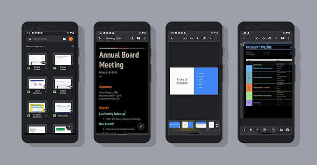 Google Announces Dark Mode Theme For Docs, Sheets And Slides