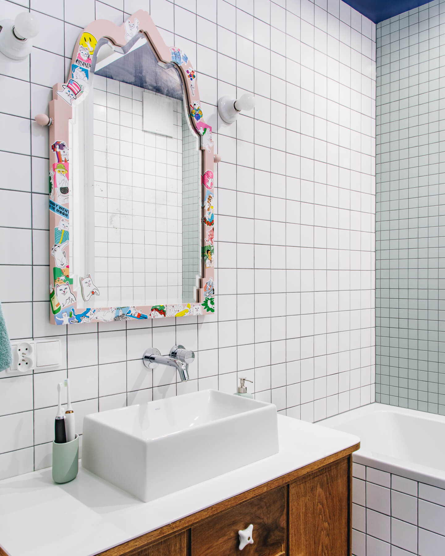 lustro do łazienki vintage