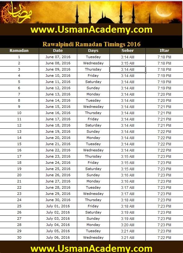Ramzan start 2019