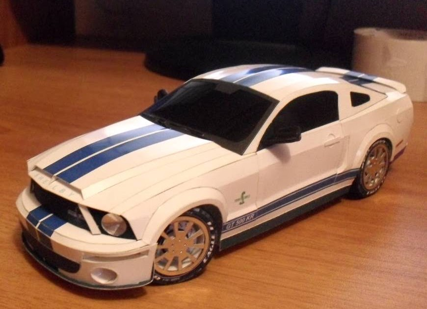 ford mustang shelby gt500 kr 2008 papercraft. Black Bedroom Furniture Sets. Home Design Ideas