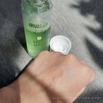 tekstur-fruitlab-fruit-infused-green-apple-toner-bintang-mahayana-com