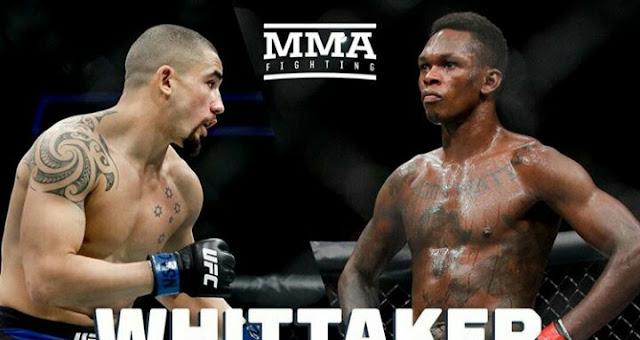 UFC 243 Robert Whittaker Vs Israel Adesanya