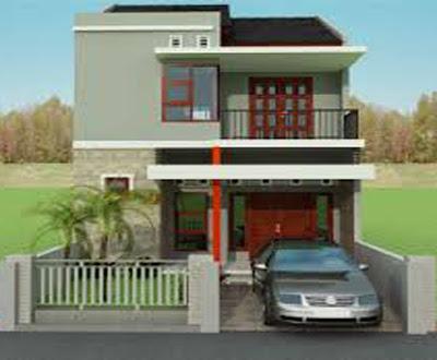 bentuk rumah 2 lantai minimalis di pedesaan