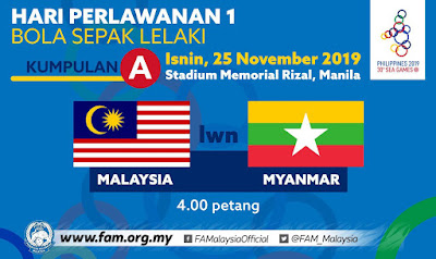 Live Streaming Malaysia vs Myanmar (Sukan Sea) 25.11.2019
