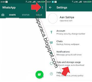 setting WhatsApp agar tidak otomatis menyimpan File di Galeri