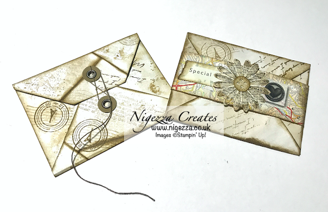 Nigezza Creates with Stampin' Up! My First Junk Journal: Making Envelopes With Hand Stained Paper
