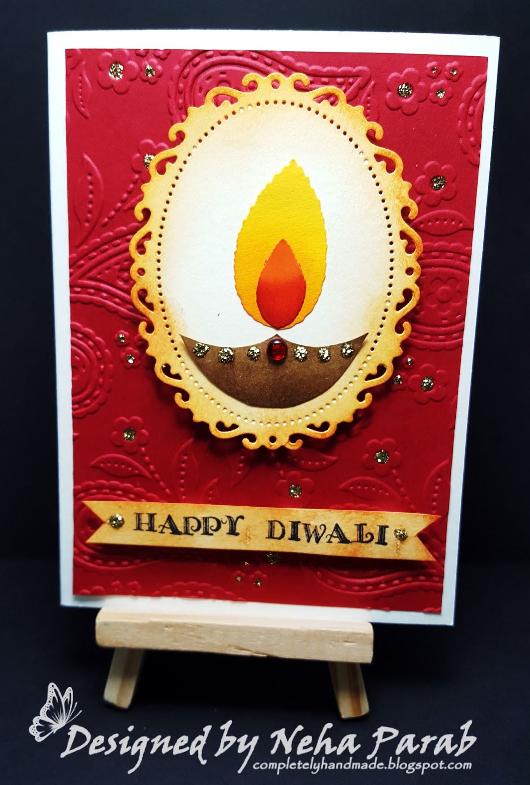 completely handmade diwali cards  day 3