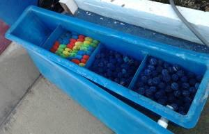 Giant aquariums 600 gallon koi pond blue fiberglass fish for Koi pond gallons