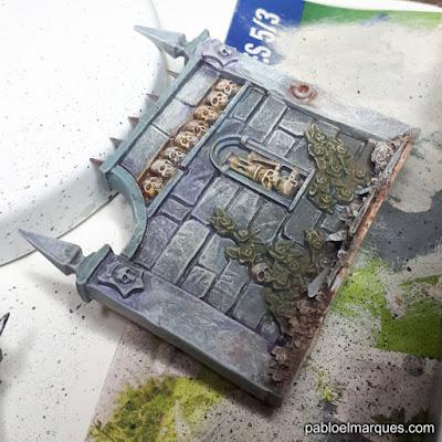 Sigmarite Mausoleum (2) Pintando muros y vallas