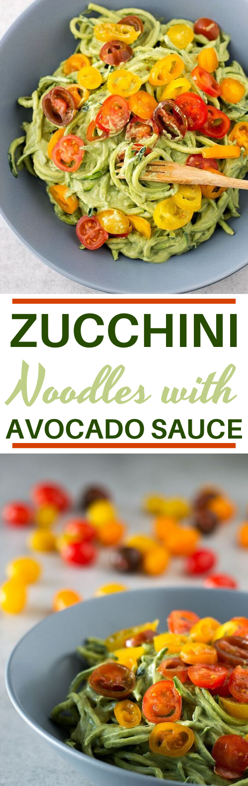 Zucchini Noodles with Avocado Sauce #vegan #dinner #glutenfree #plantbased #pasta