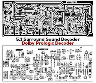Decodificador de som surround 5.1 - circuito eletrônico 8