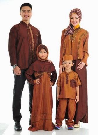 Gambar baju muslim couple keluarga terbaru