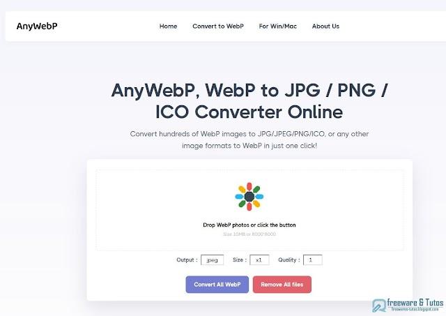 AnyWebP : la solution en ligne et hors ligne  pour convertir les images en WebP et de WebP vers JPG/PNG