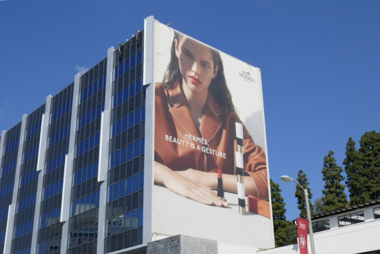 Giant Hermes Beauty is a gesture billboard