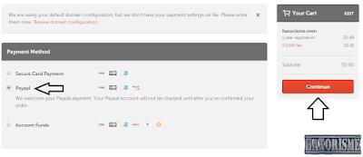 Pembayaran Domain Namecheap Melalui Paypal