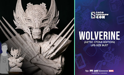 San Diego Comic-Con 2020 Exclusive Wolverine Aztec Stone Edition Life-Size Bust by Jesse Hernandez x Unruly Industries x Sideshow Collectibles