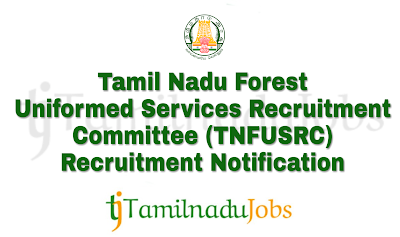 TNFUSRC Recruitment notification of 2018