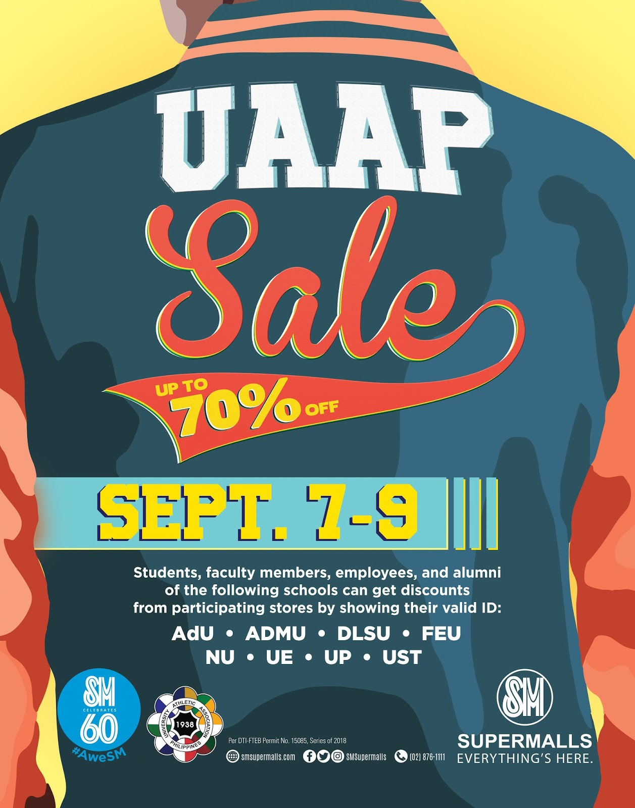 Experience a weekend full of deals and promos with the barkada at the UAAP  Sale at SM Metro Manila malls 91fcb058e