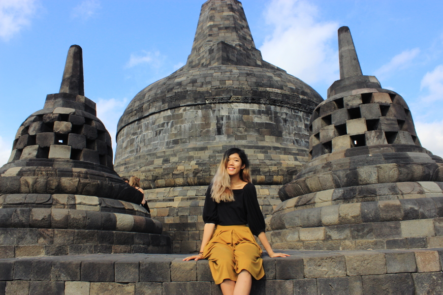 Thepengyo the ultimate yogyakarta guide what to eat see and do sitting at the top of borobudur temple in yogyakarta stopboris Gallery