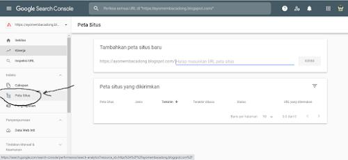 submit sitemap ke webmaster tools